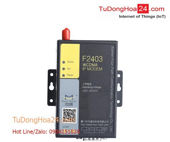 Modem WCDMA (3G) IP + RS-232/485 Four-Faith F2403