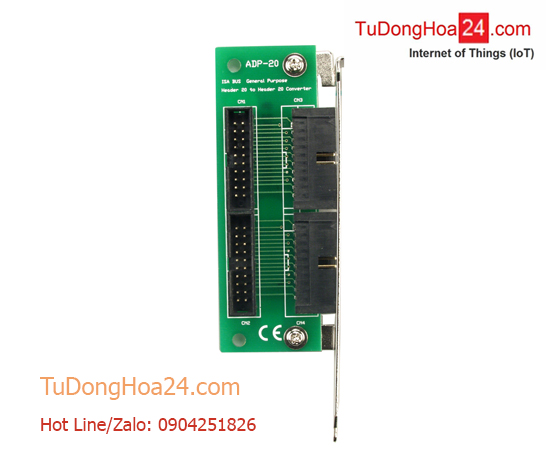 20-pin to 20-pin connector extender for ISA card ICP DAS ADP-20