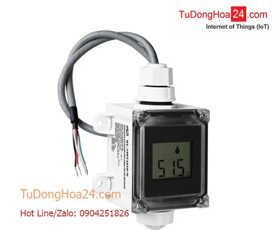 Cảm biến đo và hiển thị nhiệt độ – độ ẩm kết nối RS-485 DCON ICP DAS DL-100T485P-W
