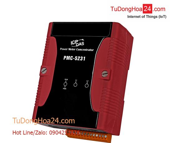 Bộ quản lý năng lượng điện tập trung IoT (Power Meter Concentrator) ICP DAS PMC-5231