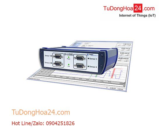 Bộ chuyển đổi tín hiệu 4 kênh Momen, lực, Load Cell, Strain Gauge + tín hiệu tương tự kết nối phần mềm và USB Lorenz SI-USB3